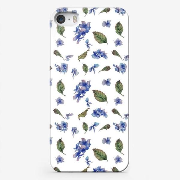 Чехол iPhone «Голубая гортензия крупная»