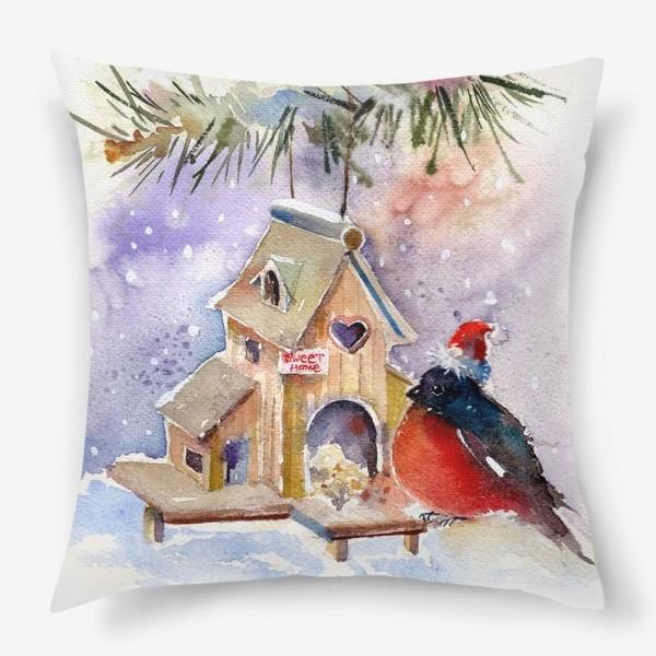 Подушка «Новогодний Снегирь»