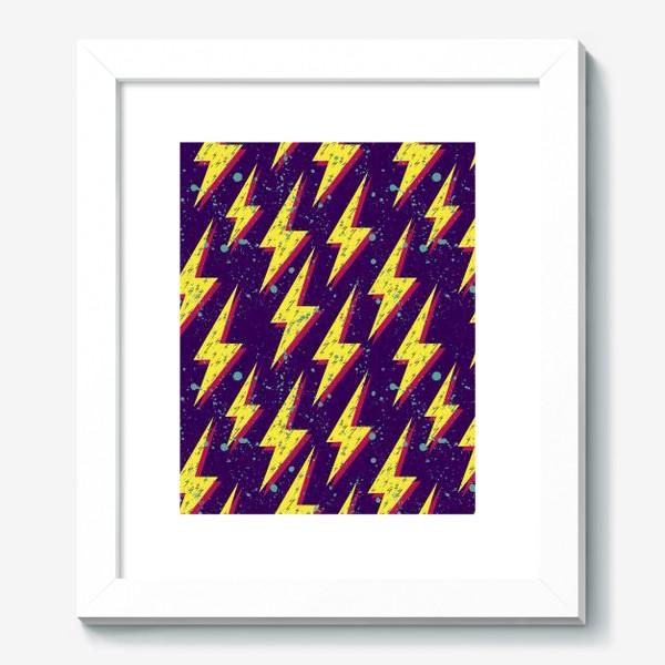 Картина «Яркий абстрактный узор  с молниями в стиле 80-х»