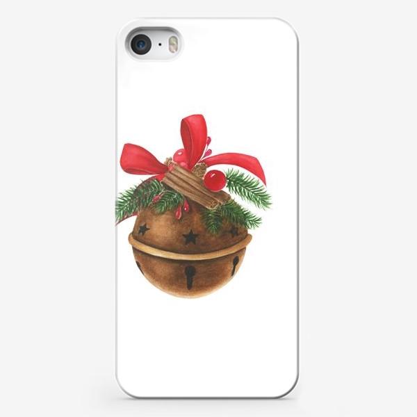 Чехол iPhone «Новогодний шар с декором»