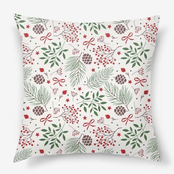Подушка «рождественский паттерн»