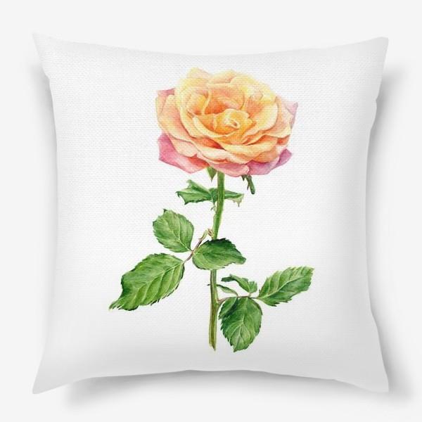Подушка «Желтая роза»