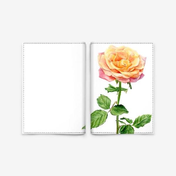 Обложка для паспорта «Желтая роза»