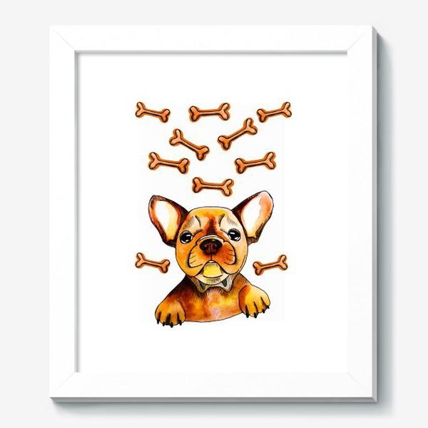 Картина «Собака в мечтах (французский бульдог)»
