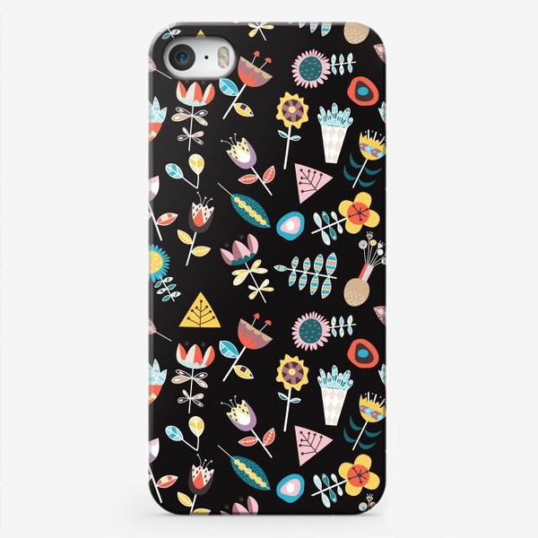 Чехол iPhone «Паттерн Растительный скандинавский узор»