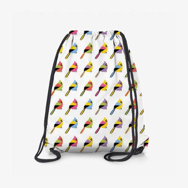 Рюкзак «Разноцветные птички»