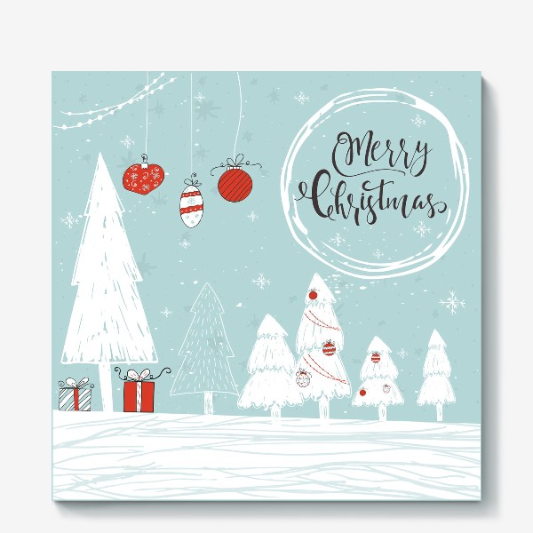 Холст «Merry Christmas»