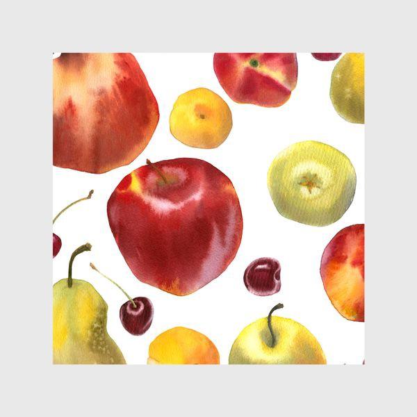 Шторы «яблоки и груши №1»