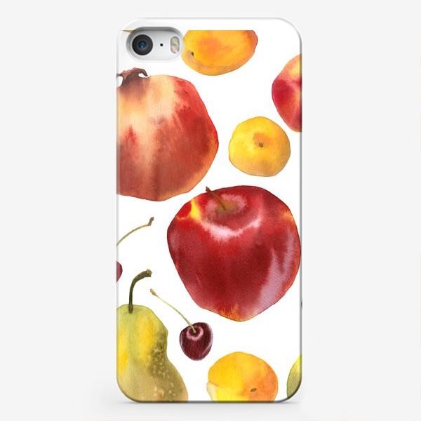 Чехол iPhone «яблоки и груши №1»