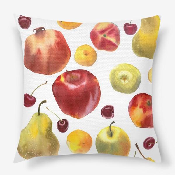 Подушка «яблоки и груши №1»