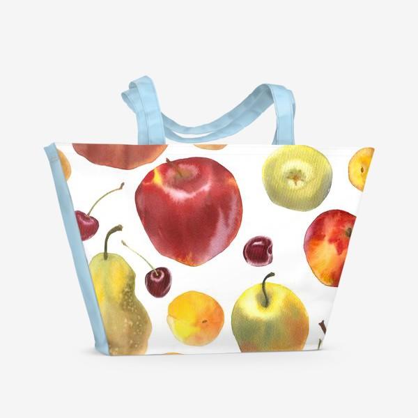 Пляжная сумка «яблоки и груши №1»