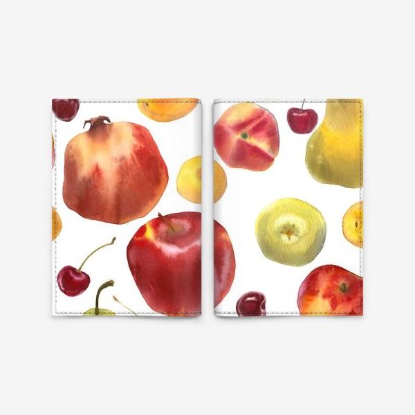 Обложка для паспорта «яблоки и груши №1»