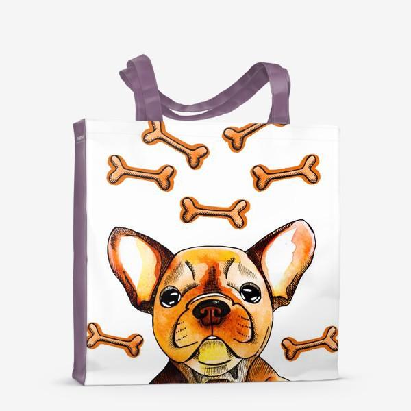 Сумка-шоппер «Собака в мечтах (французский бульдог)»