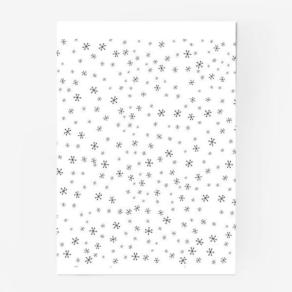 Постер «Black snowflakes»