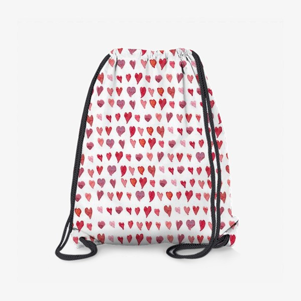 Рюкзак «Паттерн с акварельными сердечками»