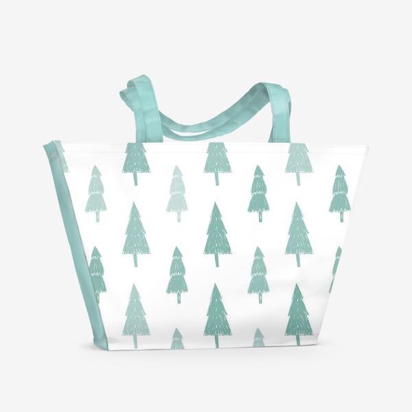 Пляжная сумка «Зимний лес»