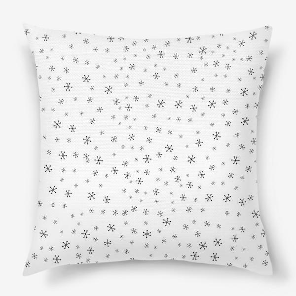 Подушка «Black snowflakes»