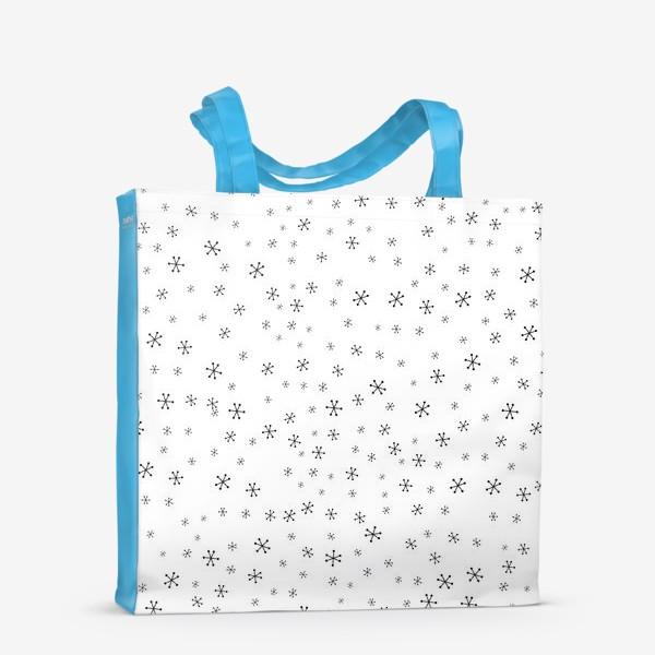 Сумка-шоппер «Black snowflakes»