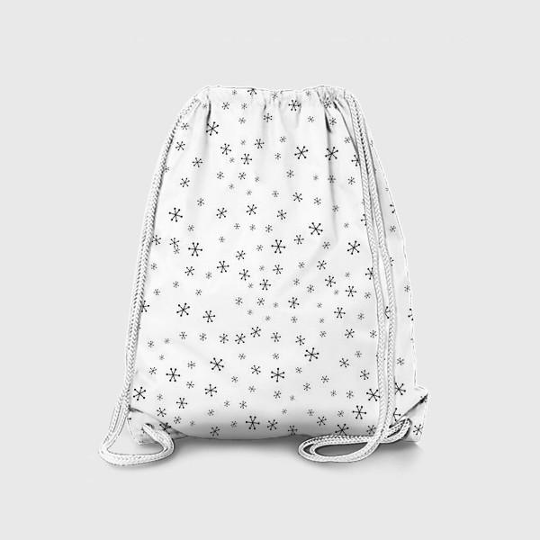 Рюкзак «Black snowflakes»
