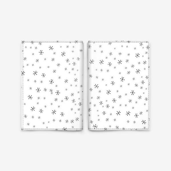 Обложка для паспорта «Black snowflakes»