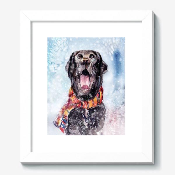 Картина «Собака зевает»