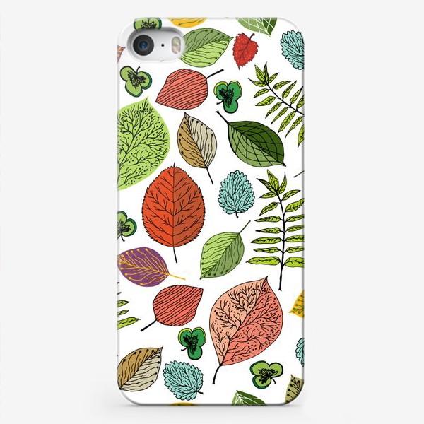 """Чехол iPhone «Узор """"Осенние листья""""»"""