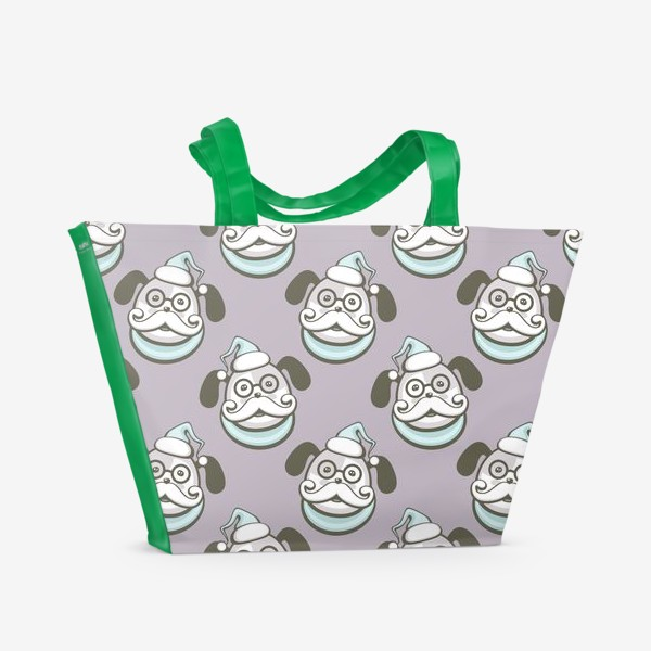 Пляжная сумка «Пёс Дед Мороз»
