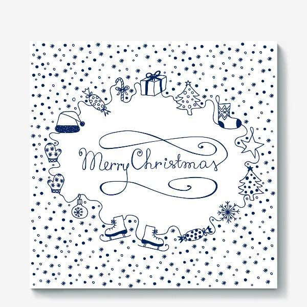 Холст «Рождественский паттерн»