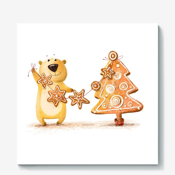 Холст «Мищка с имбирными печеньями»