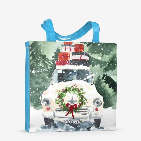 Сумка-шоппер «Машина с подарками»