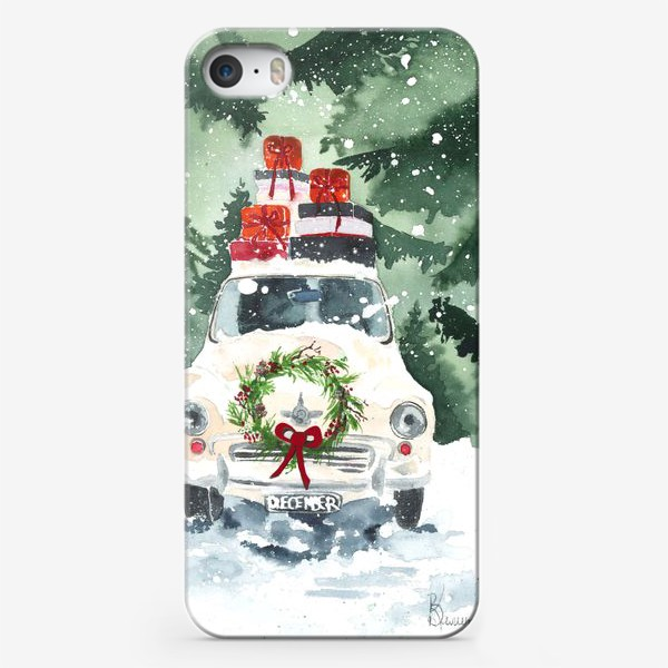 Чехол iPhone «Машина с подарками»