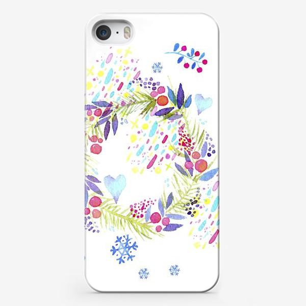 Чехол iPhone «Рождественский венок»