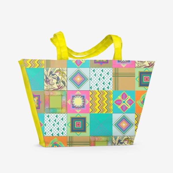 Пляжная сумка «Нежный пэчворк»