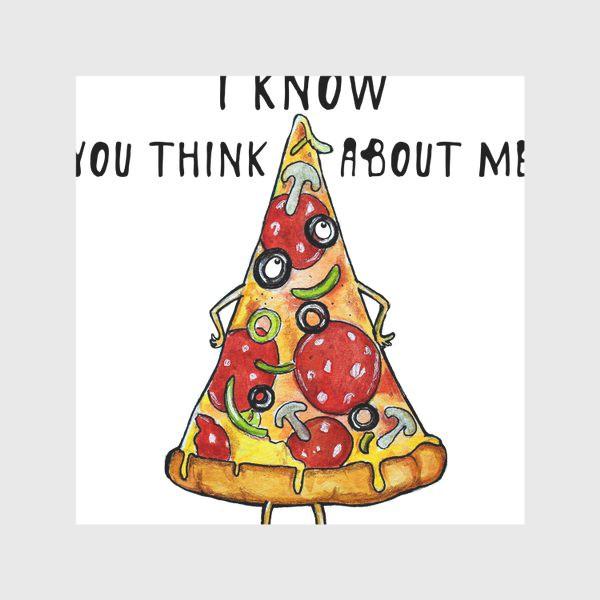Скатерть «Уверенная в себе Пицца »