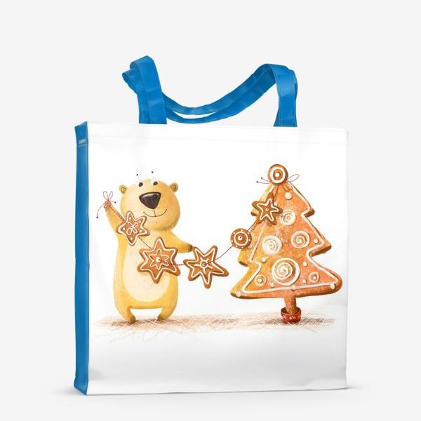Сумка-шоппер «Мищка с имбирными печеньями»