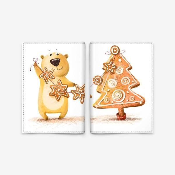 Обложка для паспорта «Мищка с имбирными печеньями»