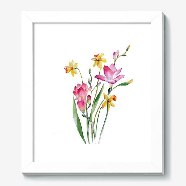 Картина «Акварель Цветы Весеннее настроение»