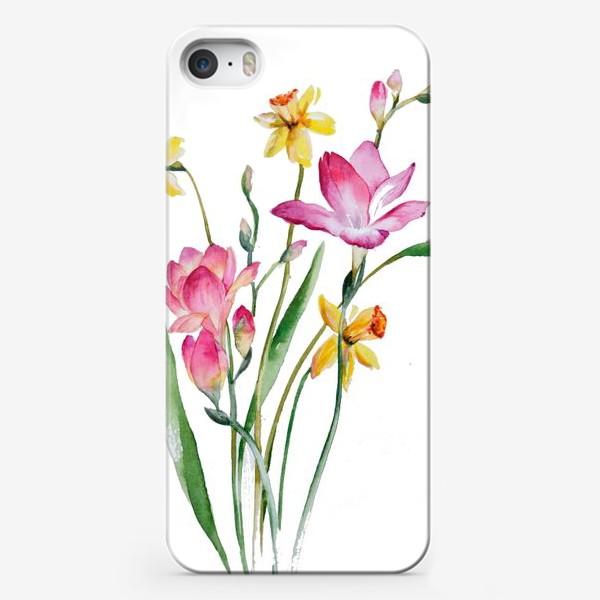 Чехол iPhone «Акварель Цветы Весеннее настроение»