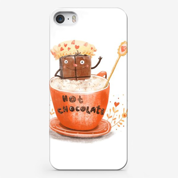 Чехол iPhone «Горячий шоколад»