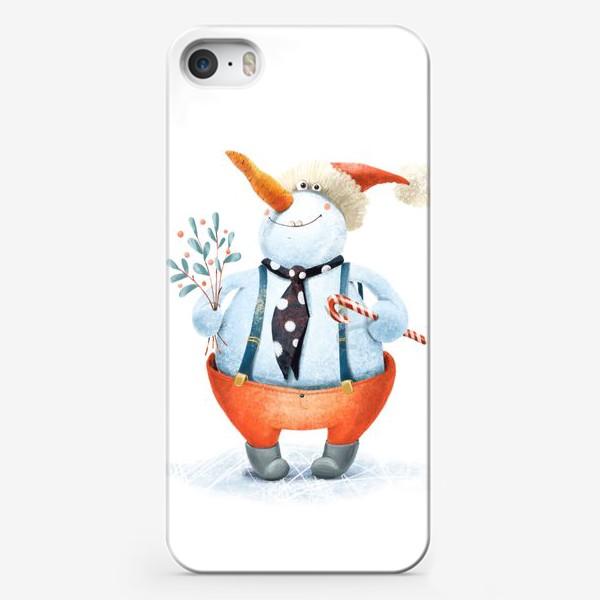 Чехол iPhone «Снеговик»