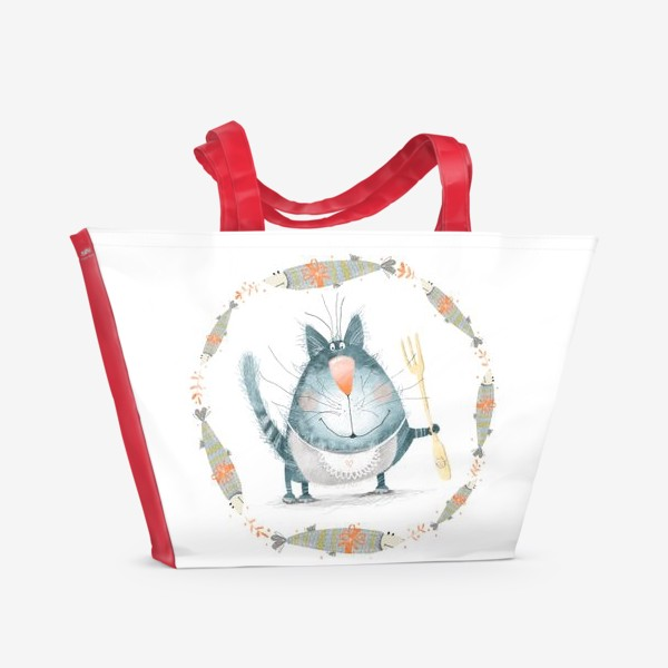 Пляжная сумка «Мечты кота»