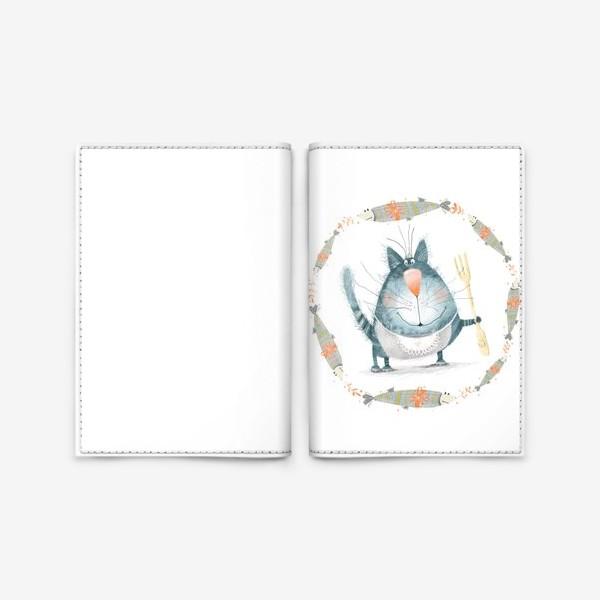 Обложка для паспорта «Мечты кота»