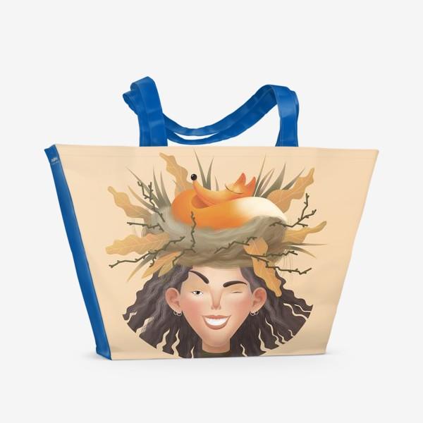 Пляжная сумка «Девушка с Лучиком»