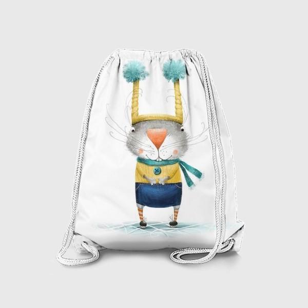 Рюкзак «Зайка на коньках»