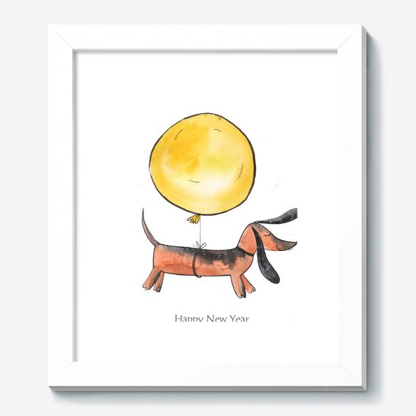 Картина «Такса с шариком»