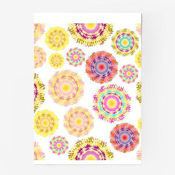 Постер «Разноцветные абстрактные круги 2»