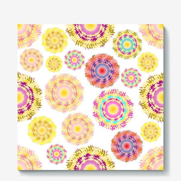 Холст «Разноцветные абстрактные круги 2»