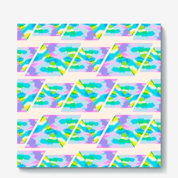 Холст «Акварельная геометрия»