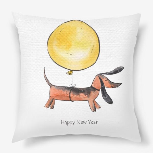 Подушка «Такса с шариком»