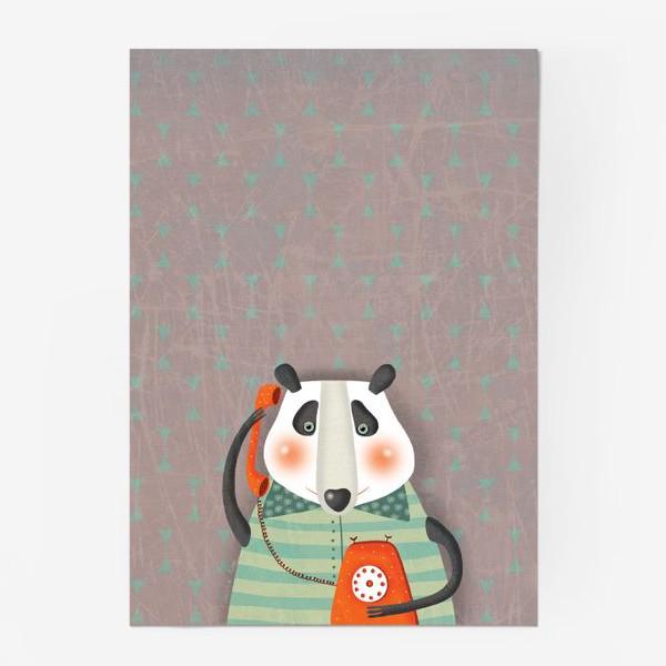 Постер «Панда с телефоном»